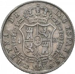 Münze > 4Reales, 1837-1849 - Spanien  - reverse