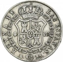 Moneta > 4reale, 1837-1849 - Hiszpania  - reverse