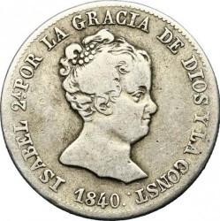 Монета > 4реала, 1837-1849 - Испания  - obverse