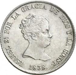Монета > 4реала, 1837-1849 - Іспанія  - obverse
