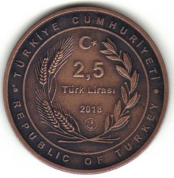 Монета > 2½ліри, 2018 - Туреччина  (Nasreddin) - reverse