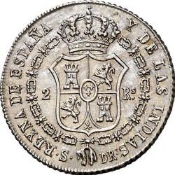 Moneta > 2reale, 1836 - Hiszpania  - reverse