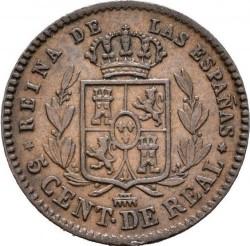 Moneta > 5sentimai, 1854-1864 - Ispanija  - reverse