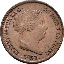 Coin > 5céntimos, 1857 - Spain  - obverse