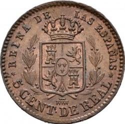 Coin > 5céntimos, 1857 - Spain  - reverse