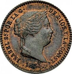 سکه > 5سنتیمو, 1854 - اسپانیا  - obverse