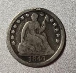 Moneda > ½dime, 1838-1853 - Estados Unidos  (Seated Liberty Half Dime) - reverse