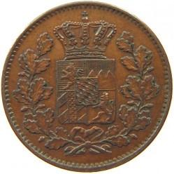Кованица > 2фенинга, 1858-1871 - Bavaria  - obverse