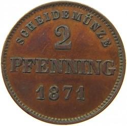 Кованица > 2фенинга, 1858-1871 - Bavaria  - reverse