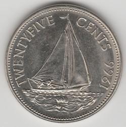 Moneda > 25cents, 1966-1970 - Bahames  - reverse