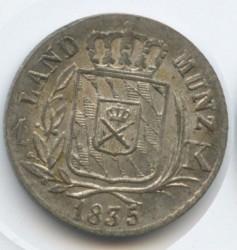 Кованица > 1крајцер, 1830-1836 - Bavaria  - reverse