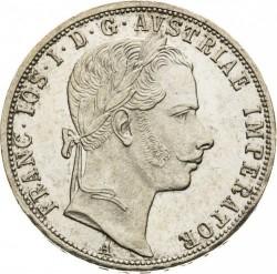 Монета > 1флорин, 1857-1865 - Австрія  - obverse