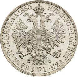Монета > 1флорин, 1857-1865 - Австрія  - reverse