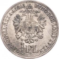 Монета > ¼флорина, 1859-1865 - Австрія  - reverse