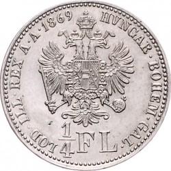 Münze > ¼Florin, 1867-1871 - Österreich   - reverse