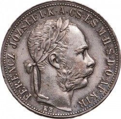 Монета > 1форинт, 1890-1892 - Унгария  - obverse