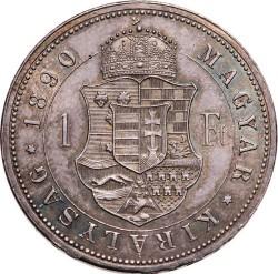 Монета > 1форинт, 1890-1892 - Унгария  - reverse