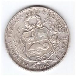 Монета > 1сол, 1864-1916 - Перу  - obverse