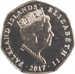 Münze > 50Pence, 2017 - Falkland Inseln  (Königspinguin (Aptenodytes patagonicus)) - obverse