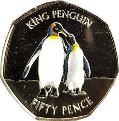 Moneta > 50pence, 2017 - Falkland (Isole)  (Pinguino reale (aptenodytes patagonicus)) - reverse