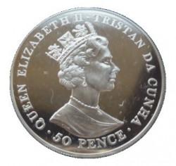 Moneta > 50pensów, 2001 - Tristan da Cunha  (100 rocznica śmierci - Królowa Victoria ) - obverse