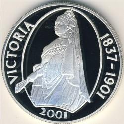 Moneta > 50pensów, 2001 - Tristan da Cunha  (100 rocznica śmierci - Królowa Victoria ) - reverse