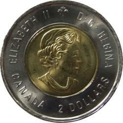 """Moneda > 2dólares, 2015 - Canadá  (100 aniversario - Poema """"En los campos de Flandes"""") - obverse"""
