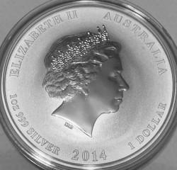 Moneta > 1dollaro, 2014 - Australia  (Anno lunare - Anno del cavallo) - obverse