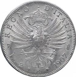 Moneda > 2liras, 1907 - Italia  - reverse