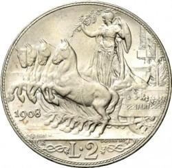 Moneta > 2liros, 1908-1912 - Italija  - reverse