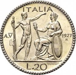 Монета > 20лири, 1927-1928 - Италия  - reverse