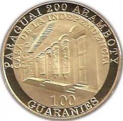 硬币  /> 100瓜拉尼, 2011 - 巴拉圭 (200th Anniversary - Independence of Paraguay) - obverse