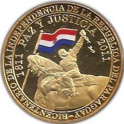 硬币  /> 100瓜拉尼, 2011 - 巴拉圭 (200th Anniversary - Independence of Paraguay) - reverse