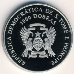 錢幣 > 1000多布拉, 1996 - 聖多美普林西比  (XXVI summer Olympic Games, Atlanta 1996 - Gymnastics) - reverse