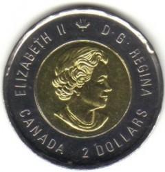 Монета > 2долара, 2018 - Канада  (100 років з дня закінчення Першої Світової війни, Кольорове покриття) - reverse