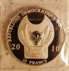 Монета > 10франка, 2010 - Конго - КДР (Световни бойци - Келт) - obverse