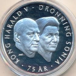 Монета > 200крон, 2012 - Норвегия  (75 лет со дня рождения Короля Харальда V) - obverse
