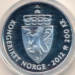 Монета > 200крон, 2012 - Норвегия  (75 лет со дня рождения Короля Харальда V) - reverse