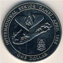 Moneta > 1dolar, 1996 - Bermudy  (Międzynarodowe Igrzyska Seniorów ) - reverse
