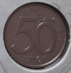 Coin > 50francs, 2001 - Belgium  (Legend in Dutch - 'BELGIE') - reverse