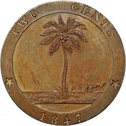 Moneda > 2centavos, 1847 - Liberia  - reverse