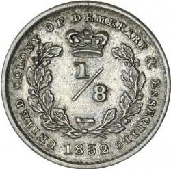 Moneta > ⅛fiorino, 1832-1835 - Demerara e Essequibo  - reverse