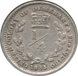 Moneta > ¼guldena, 1832-1835 - Demerara i Essequibo   - reverse