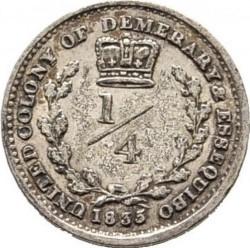 Moneda > ¼gulden, 1832-1835 - Demerara i Essequibo  - reverse