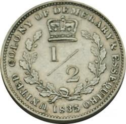 Moneta > ½fiorino, 1832-1835 - Demerara e Essequibo  - reverse