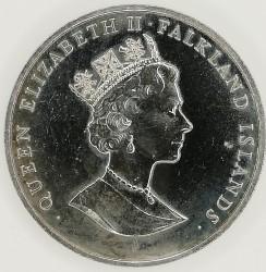 Moneda > 50peniques, 1993 - Islas Malvinas  (40 aniversario - Coronación de la Reina Elisabeth II) - obverse