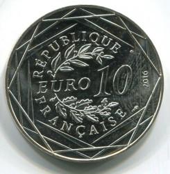 Coin > 10euro, 2016 - France  (On Horseback) - obverse