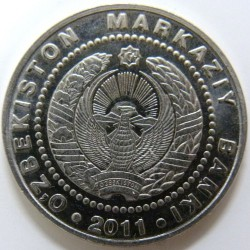 Moneda > 500so'm, 2011 - Uzbekistán  (20 aniversario de la Independencia de Uzbekistán) - obverse