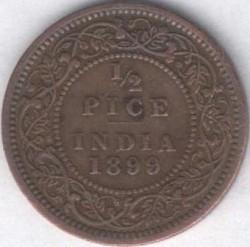מטבע > ½פייסה, 1885-1901 - הודו הבריטית  - obverse