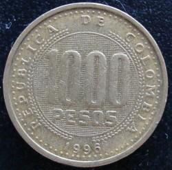 Minca > 1000pesos, 1996-1998 - Kolumbia  - obverse